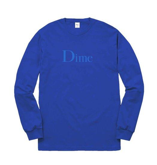 Dime Dime Classic Logo Longsleeve - Royal