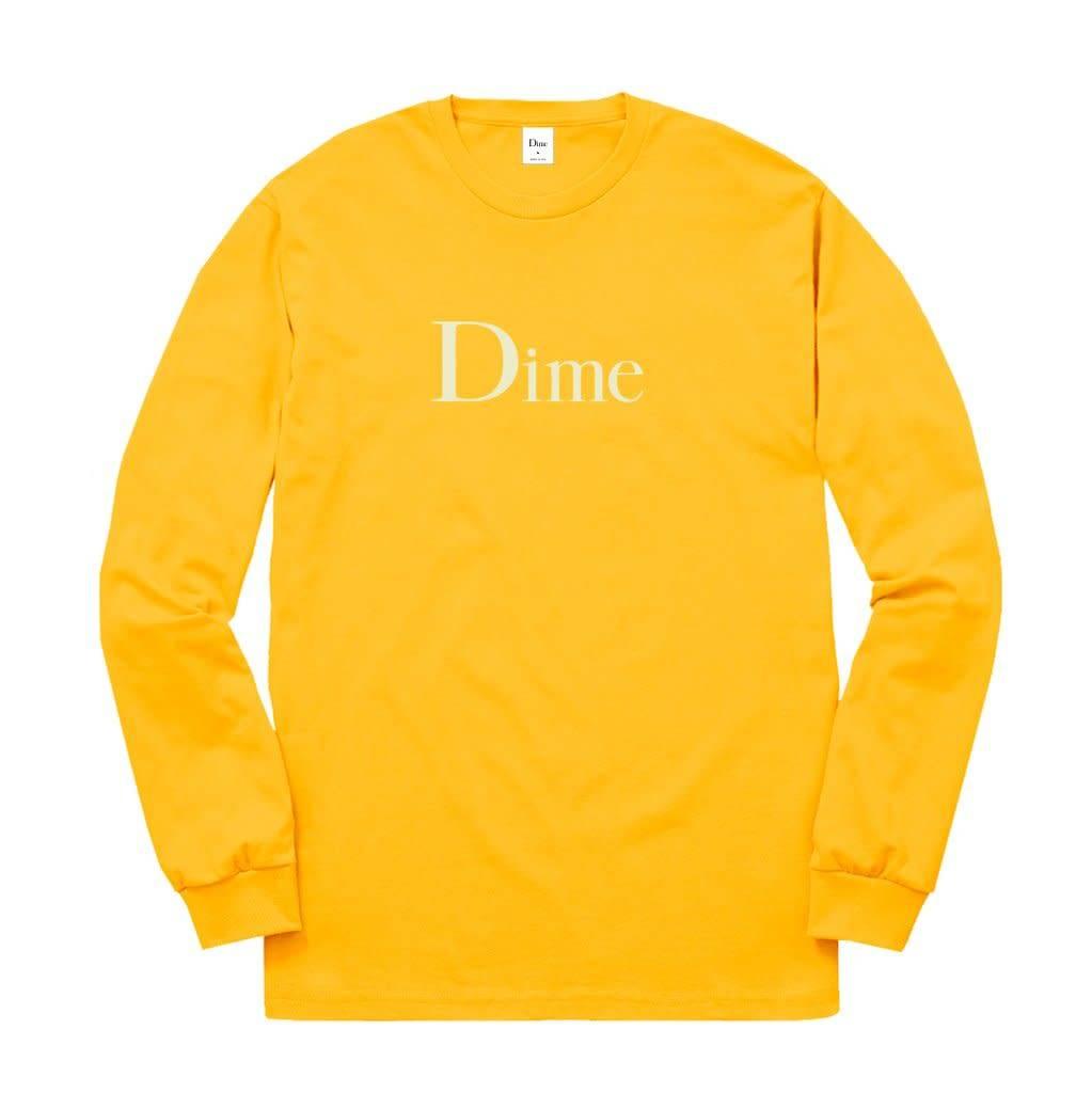 Dime Dime Classic Logo Longsleeve - Gold