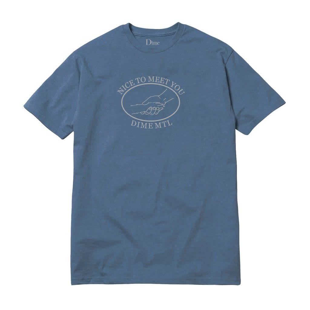 Dime Dime Greetings Tee - Stone Blue