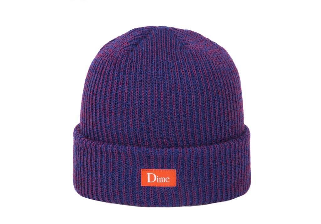Dime Dime Classic Logo Marled Beanie - Blue Red