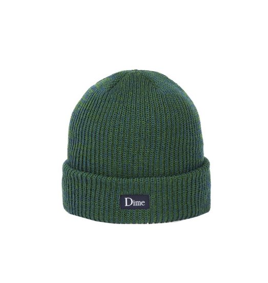 Dime Dime Classic Logo Marled Beanie - Blue Green