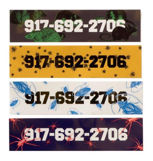 "Call Me 917 Call Me 917 Pest Sticker Pack - 8"" X 2"""