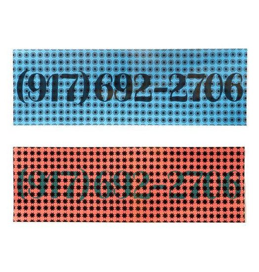 "Call Me 917 Call Me 917 Dialtone Sticker Pack - 18.25"" X 6"""