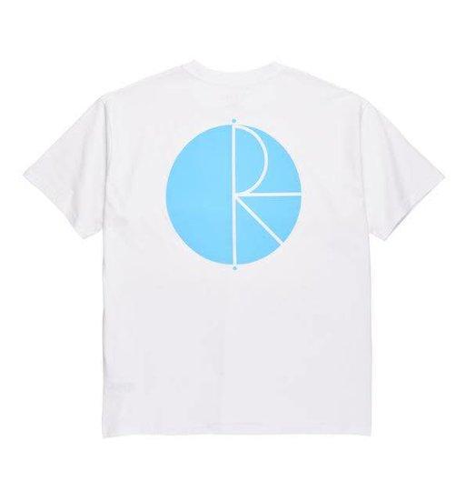 Polar Polar Fill Logo Tee - White/Pool Blue