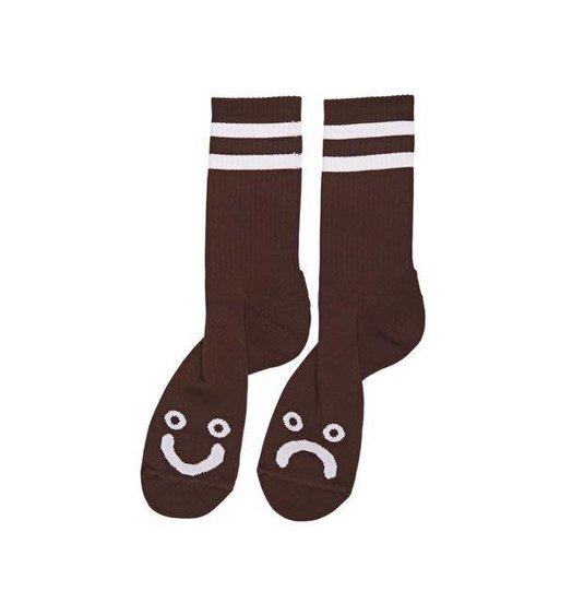 Polar Polar Happy/Sad Socks - Brown