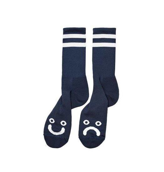 Polar Polar Happy/Sad Sock - Navy