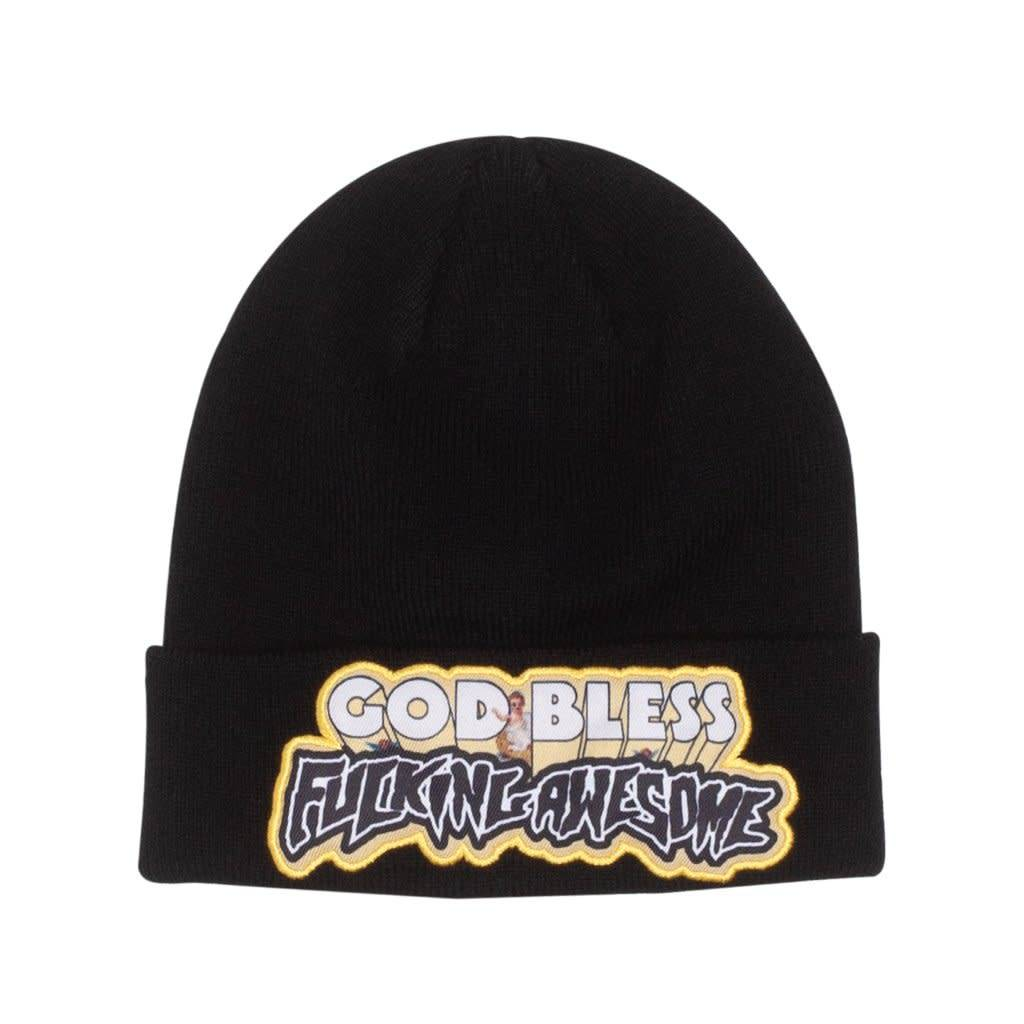 Fucking Awesome Fucking Awesome God Bless FA Beanie - Black