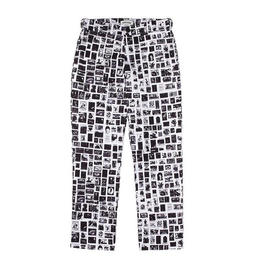 Fucking Awesome Fucking Awesome Stamps Pant - White/Black