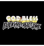 Fucking Awesome Fucking Awesome God Bless FA Tee - Black