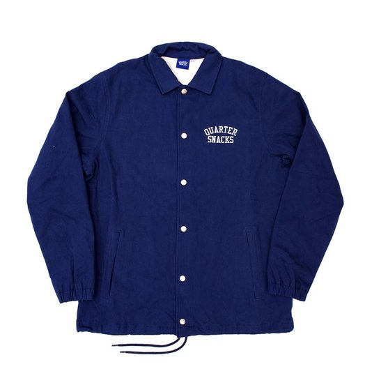 Quartersnacks Quartersnacks Cotton Canvas Coaches Jacket - Navy