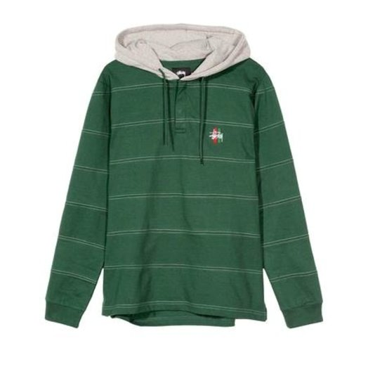 f6806e474ead Stussy Stussy Heavy Hooded Jersey - Forest