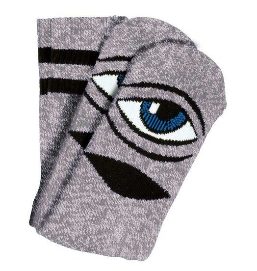 Toy Machine Toy Machine Sect Eye Socks - Pink/Grey Heather