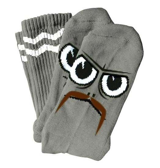 Toy Machine Toy Machine Turtle Stache Socks - Grey