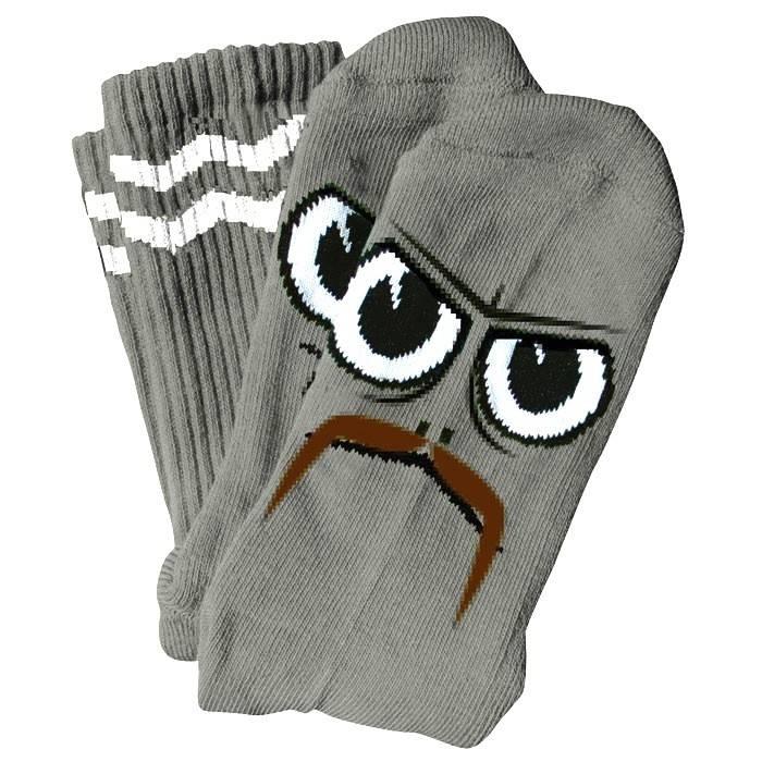 Toy Machine Toy Machine Turtle Stache Socks - Grey