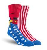 Toy Machine Toy Machine Socks American Monster - Red/White/Blue