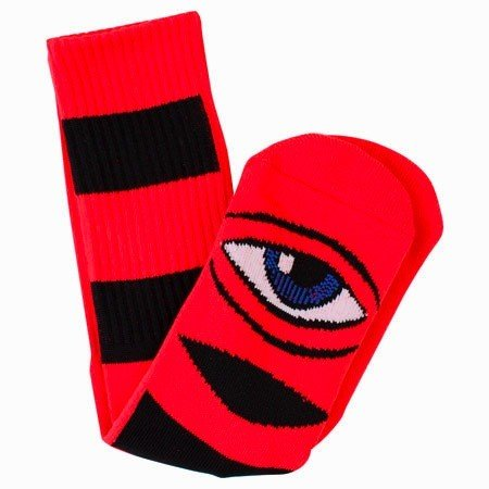 Toy Machine Toy Machine Sect Eye Big Stripe Socks - Red