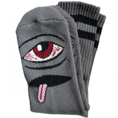 Toy Machine Toy Machine Socks Bloodshot Eye - Grey