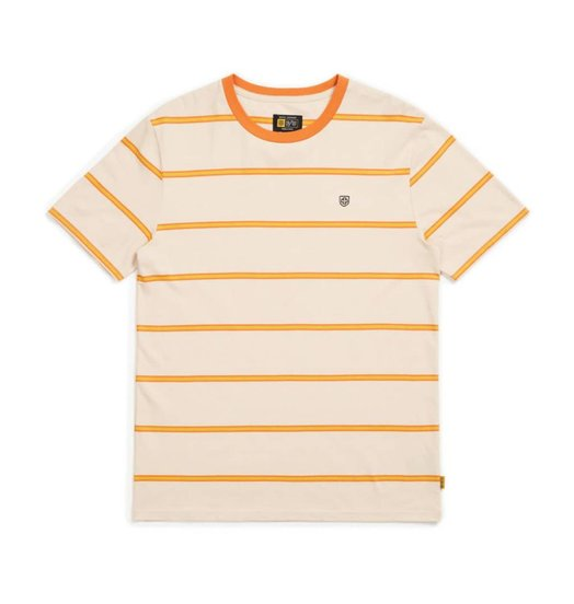 Brixton Brixton X Independent Deputy S/S Tee - Orange/Tan