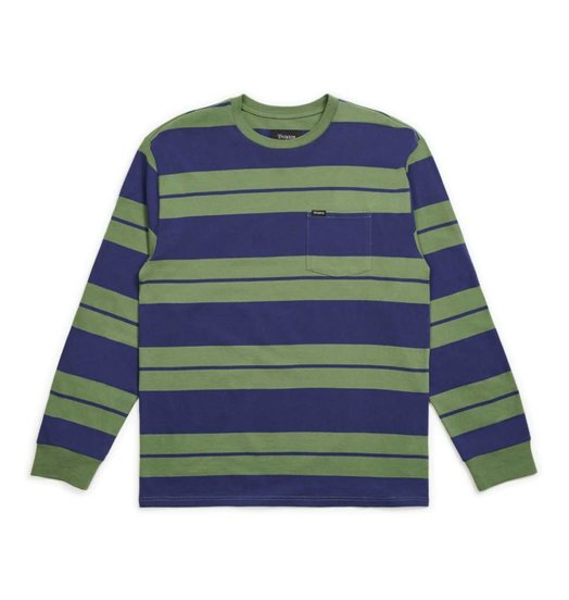 Brixton Brixton Hilt L/S Pocket Tee - Leaf/Patriot Blue