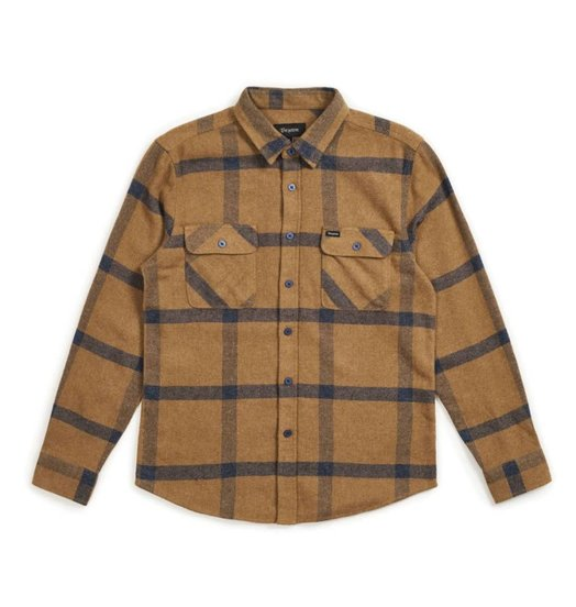 Brixton Brixton Bowery Flannel - Gold/Navy