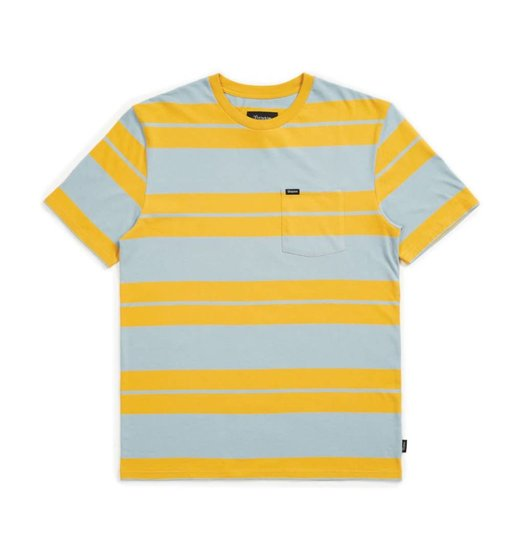 Brixton Brixton Hilt S/S Pocket Tee - Gold/Light Blue