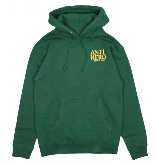 Antihero Anti Hero Lil Blackhero Embroidered Hood -Dark  Green