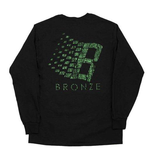 Bronze 56K Bronze 56K B Logo Binary Longsleeve - Black