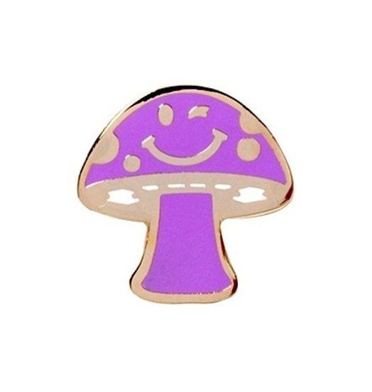 Stussy Stussy Mushroom Pin - Purple