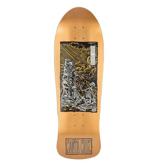 Santa Cruz Santa Cruz Obrien Purgatory Reissue Deck - Metallic Gold
