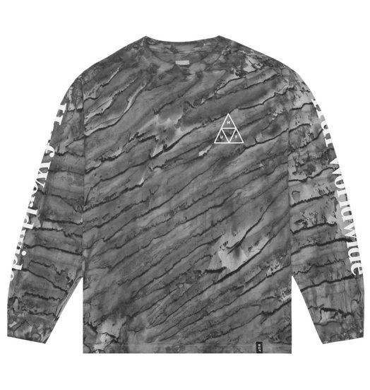 HUF Huf Triple Triangle Soho Marble Wash Longsleeve - Black
