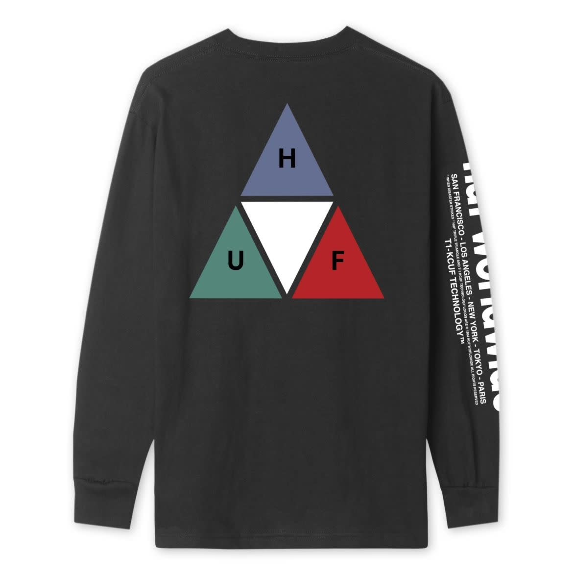 HUF Huf Prism Triple Triangle Longsleeve - Black