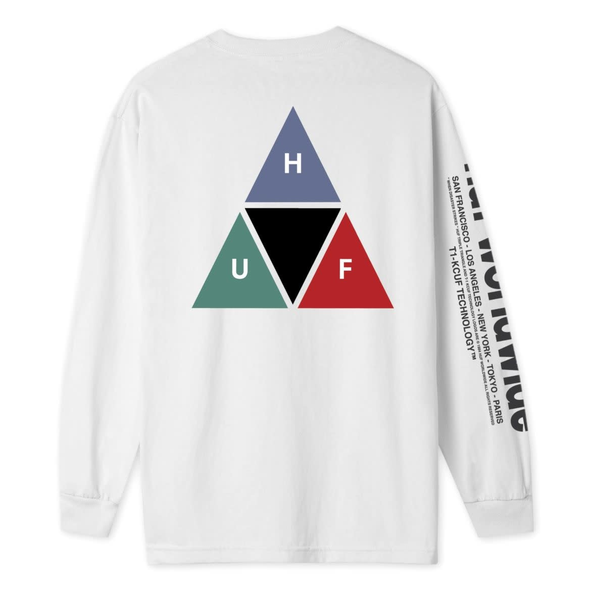 HUF Huf Prism Triple Triangle Longsleeve - White