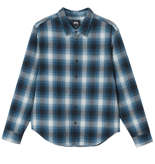 Stussy Stussy Alton Plaid Shirt - Indigo