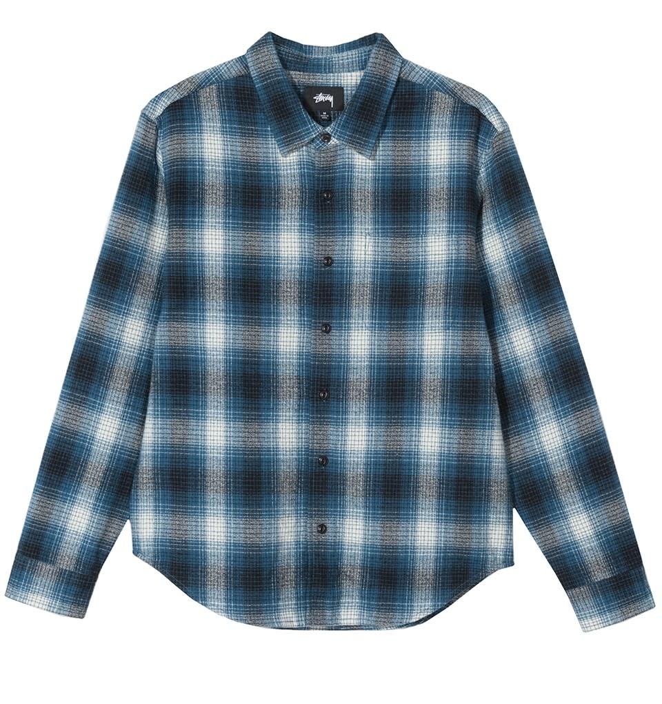 Stussy Stussy Alton Plaid Shirt - Indigo