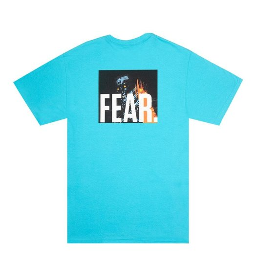 Fucking Awesome Fucking Awesome Fear Tee - Tropical Blue