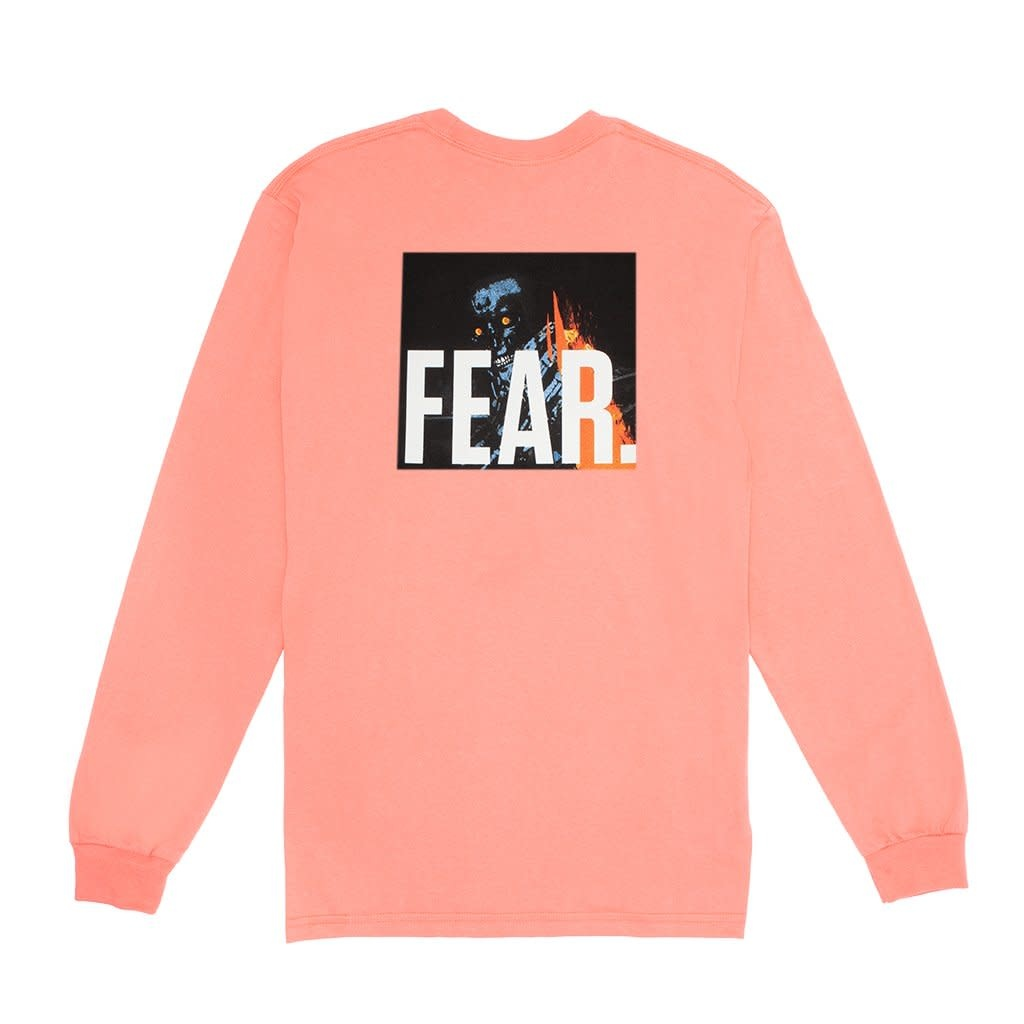 Fucking Awesome Fucking Awesome Fear Longsleeve - Coral Silk