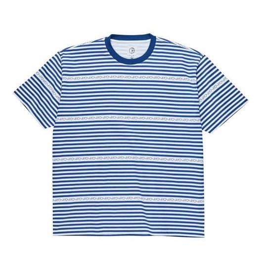 Polar Polar Stripe Logo Tee - Dark Blue