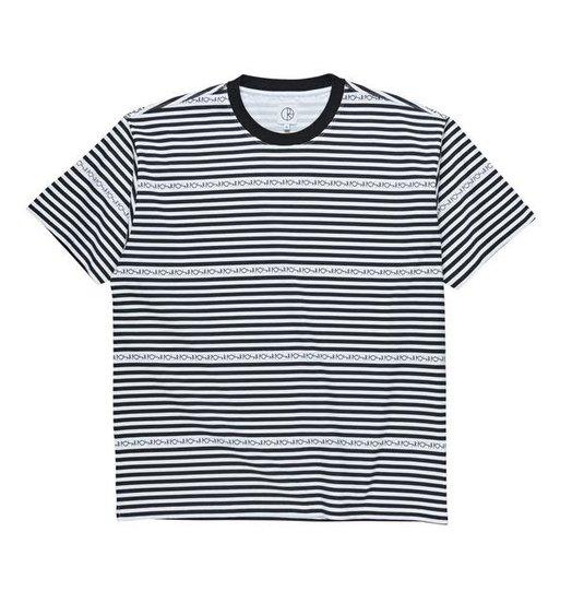 Polar Polar Stripe Logo Tee - Black