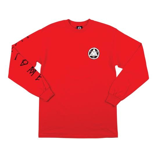 Welcome Welcome Tali-Scrawl L/S Tee - Red/Black/White