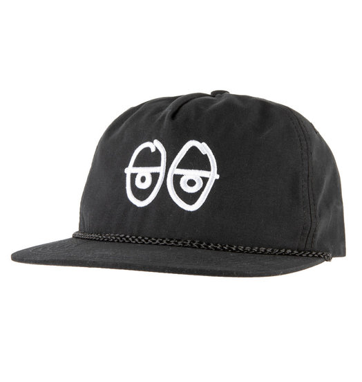 Krooked Krooked Stock Eyes Snapback - Black/White