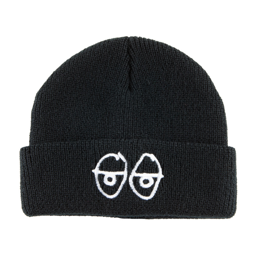 Krooked Krooked Stock Eyes Cuff Beanie - Black/White