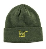 Krooked Krooked Kat Cuff Beanie - Dark Army/Yellow