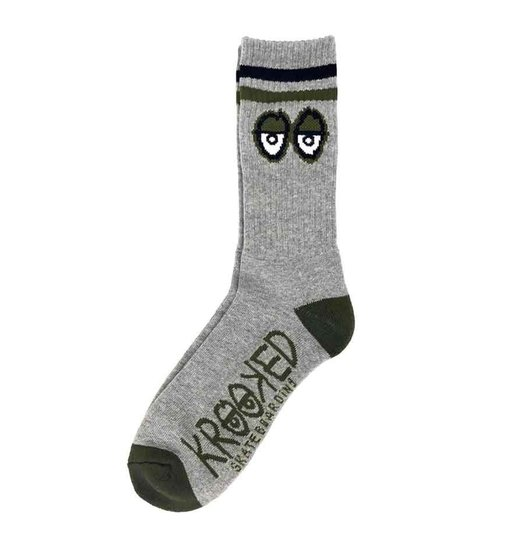 Krooked Krooked Big Eye Socks - Heather/Black/Army
