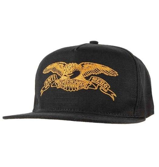 Antihero Antihero Basic Eagle Embroidered Snapback - Black/Brown