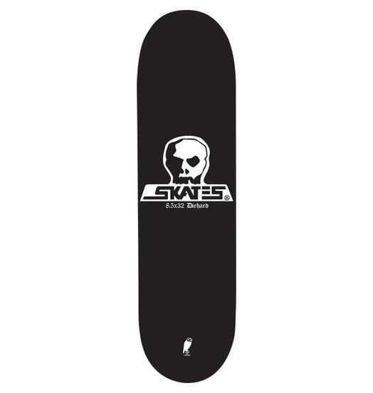 Skull Skates Skull Skates Diehard Deck Black Stain - 8.5