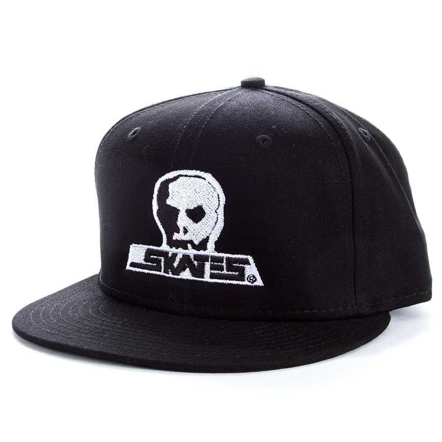Skull Skates Skull Skates Large Logo Snapback - Black