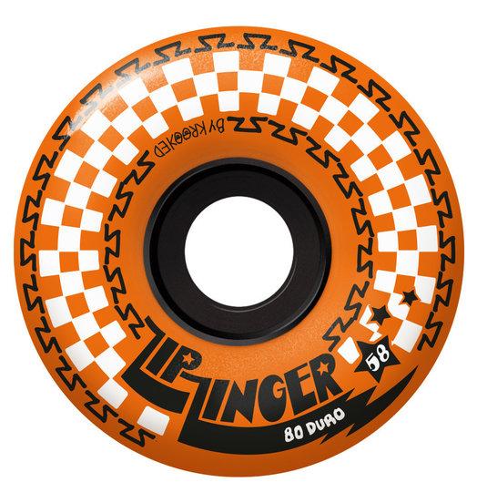 Krooked Krooked Zip Zinger Wheels 58mm 80D - Orange