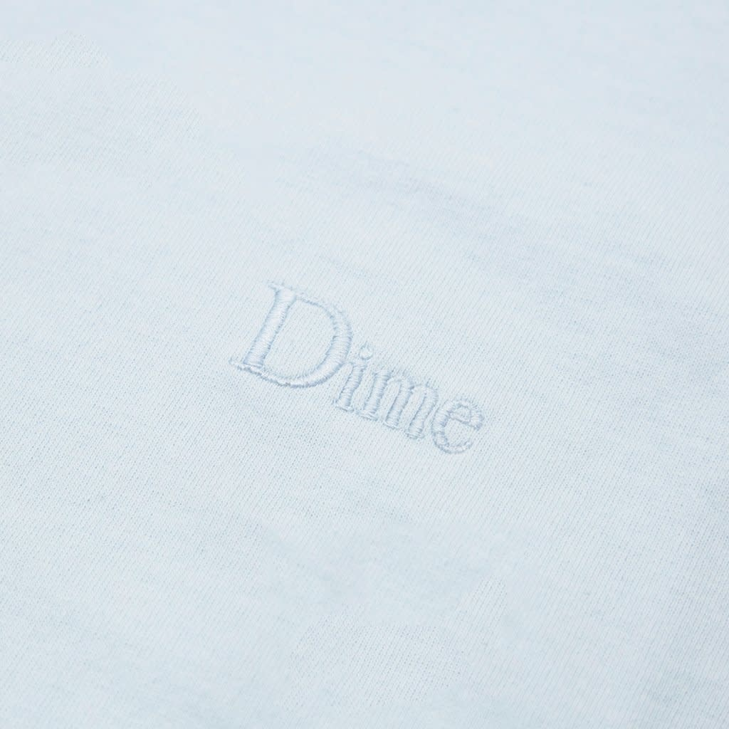 Dime Dime Classic Embroidered T-Shirt - Light Blue