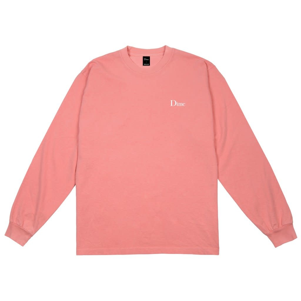 Dime Dime Classic Logo L/S Tee - Pink