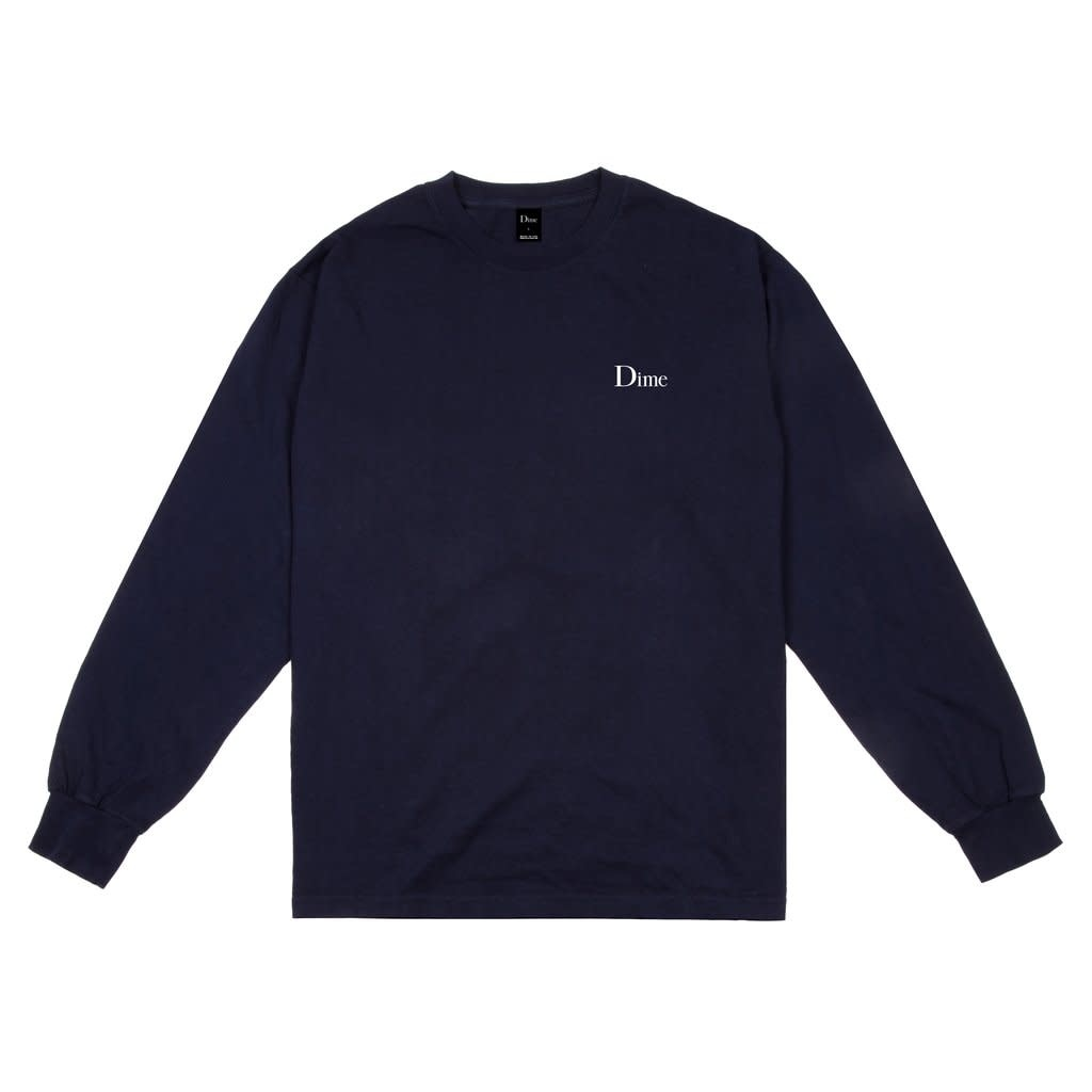 Dime Dime Classic Logo L/S Tee - Navy